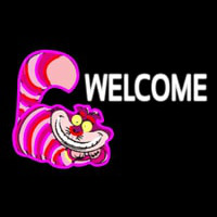 Custom Welcome With Smiley Cat 1 Neonskylt