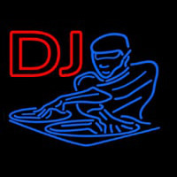 DJ Disc Jockey Disco Music Neonskylt
