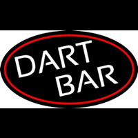 Dart Bar With Oval With Red Border Neonskylt