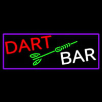 Dart Bar With Purple Border Neonskylt
