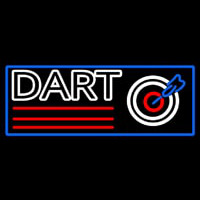 Dart Board With Blue Border Neonskylt