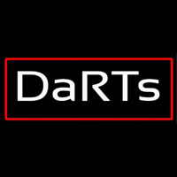 Darts With Red Border Neonskylt