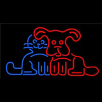 Dog Cat Logo Neonskylt