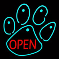 Dog Open Logo Neonskylt