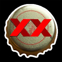 Dos Equis Amber Me ico Bottle Cap Beer Sign Neonskylt