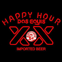 Dos Equis Beer Happy Hour Beer Sign Neonskylt