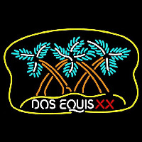 Dos Equis X  Plam Tree Beer Sign Neonskylt