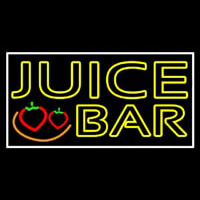 Double Stroke Juice Bar With Strawberries Neonskylt