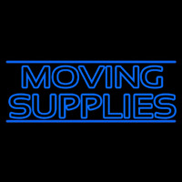 Double Stroke Moving Supplies Neonskylt