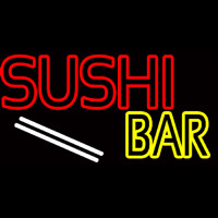 Double Stroke Sushi Bar  Neonskylt