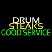 Drum Steaks Good Service Block 1 Neonskylt