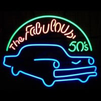Fabulous 50S For Garage Man Cave Wall Art Neonskylt