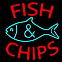Fish Logo Fish And Chips Neonskylt