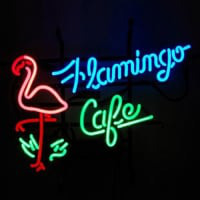 Flamingo Cafe Butik Neonskylt