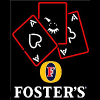 Fosters Ace And Poker Beer Sign Neonskylt