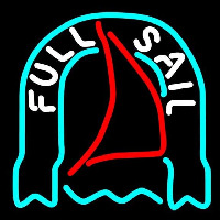 Fosters Full Sail Beer Sign Neonskylt