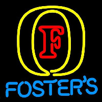 Fosters Initial Beer Sign Neonskylt