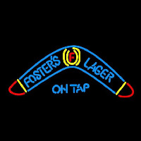 Fosters Lager Boomerang Beer Sign Neonskylt