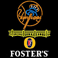 Fosters New York Yankees Beer Sign Neonskylt