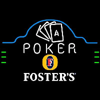 Fosters Poker Ace Cards Beer Sign Neonskylt