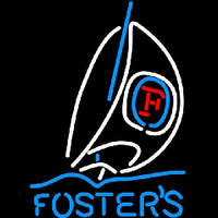 Fosters Sailboat Beer Sign Neonskylt
