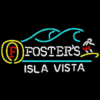Fosters Surfer Isla Vista Beer Sign Neonskylt