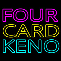Four Card Keno 1 Neonskylt