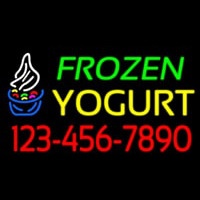 Frozen Yogurt With Phone Number Neonskylt