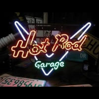 GARAGE HOT ROD Neonskylt