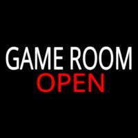 Game Room Open Neonskylt