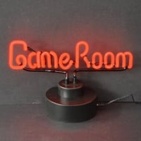 Game Room Red Lettering Desktop Neonskylt
