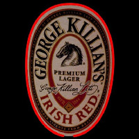 George Killians Irish Red Beer Sign Neonskylt