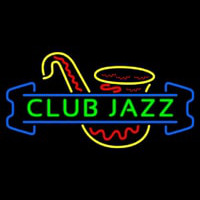 Green Club Jazz Block With Sa ophone 1 Neonskylt