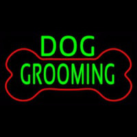 Green Dog Grooming Red Bone Neonskylt