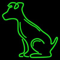 Green Dog Neonskylt