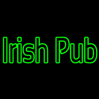 Green Irish Pub Neonskylt