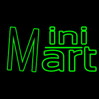 Green Mini Mart Neonskylt