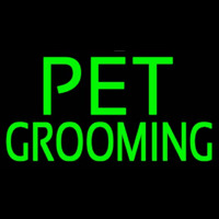 Green Pet Grooming Block 2 Neonskylt