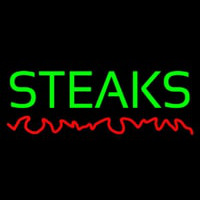 Green Steaks Neonskylt