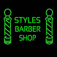 Green Styles Barber Shop Neonskylt