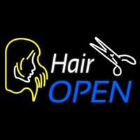 Hair Open  Neonskylt