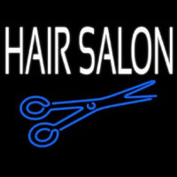 Hair Salon With Scissor Neonskylt