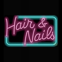 Hair and Nails Neonskylt