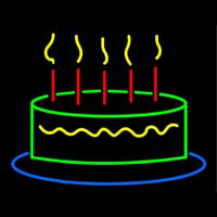 Happy Birthday Cake Neonskylt