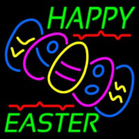 Happy Easter With Egg 1 Neonskylt