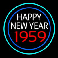 Happy New Year 1959 Bioshock Neonskylt
