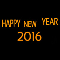 Happy New Year 2016 Neonskylt