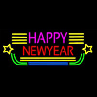 Happy New Year Logo 2 Neonskylt