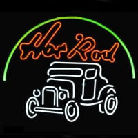 Hot Rod Hotrods Logo Auto Car Dealer Öl Bar Neonskylt Snabb Leverans