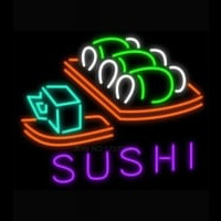 Hot Sushi Neonskylt